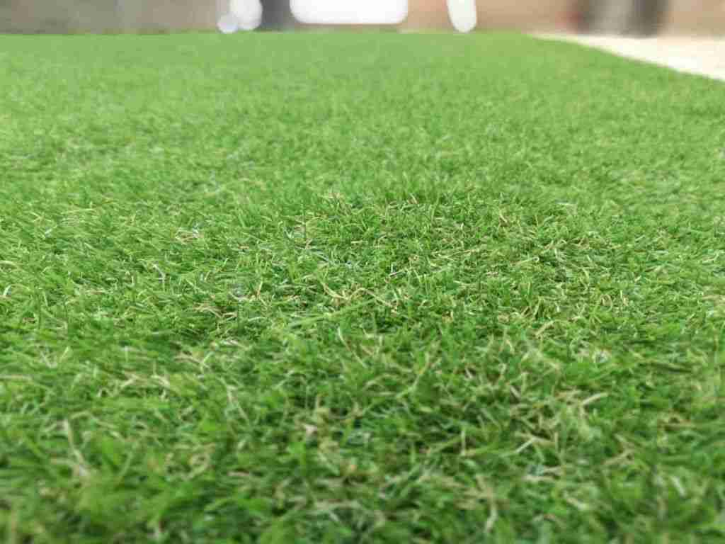 Close us shot of artificial grass