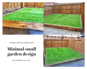 Collage of shots from a Landscape gardening project in Buckshaw village.