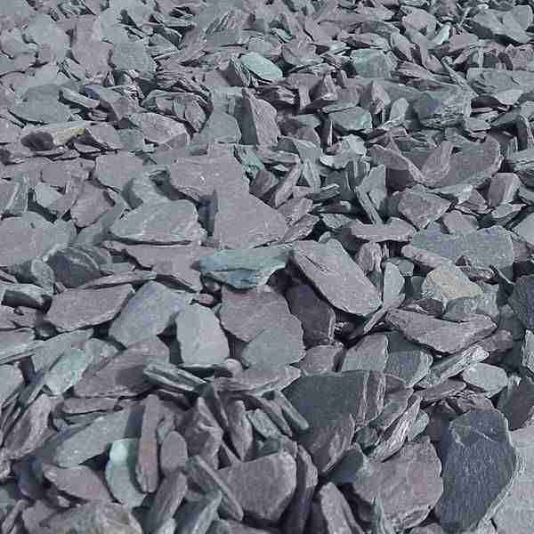 Close up shot of slate gravel
