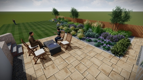 Tranquil garden design with low maintenance plants