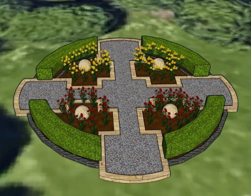 Large cross public feature design