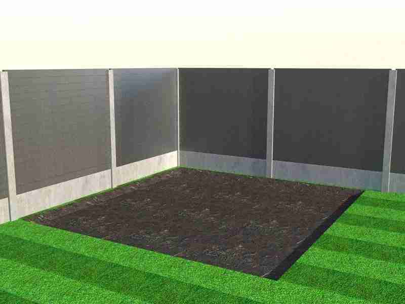 Small area of ground dug out for decking