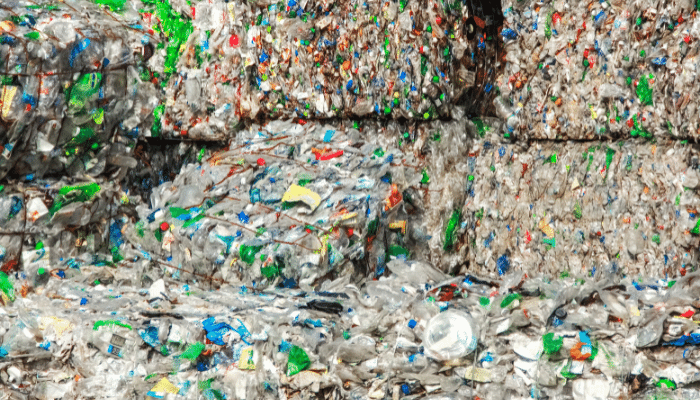 Plastic ready to be recycled