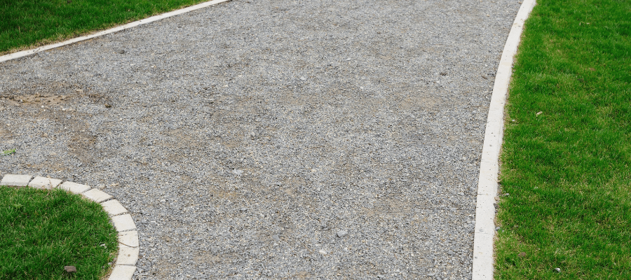 self binding gravel path as a great alternative to decking