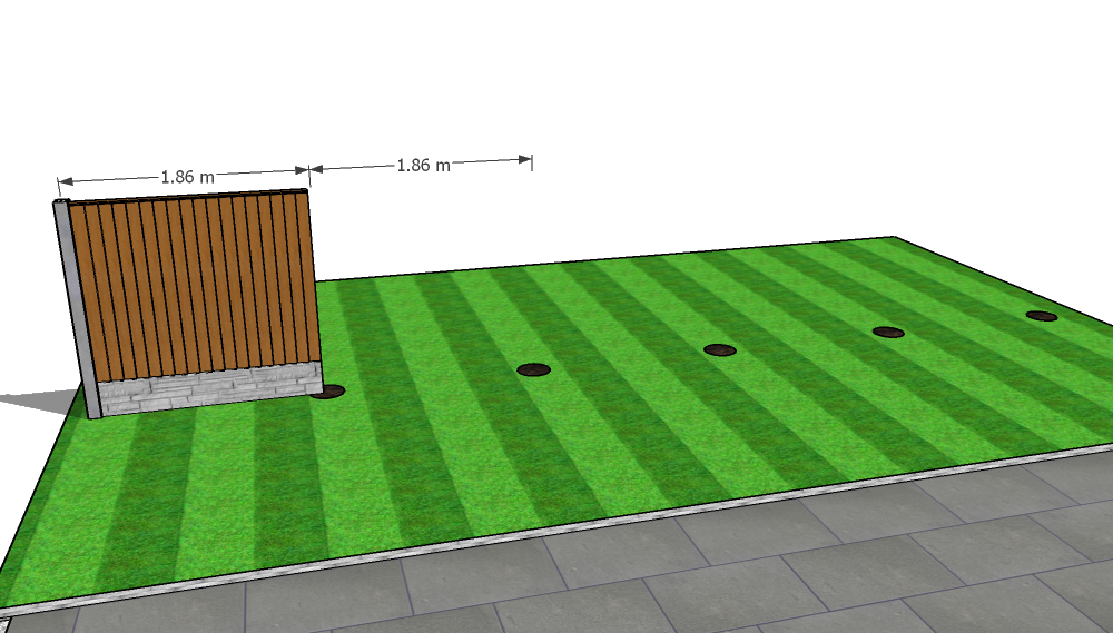 Adding the first base and fence panel