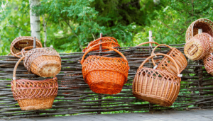 Rattan fencing is a cheap alternative to wood