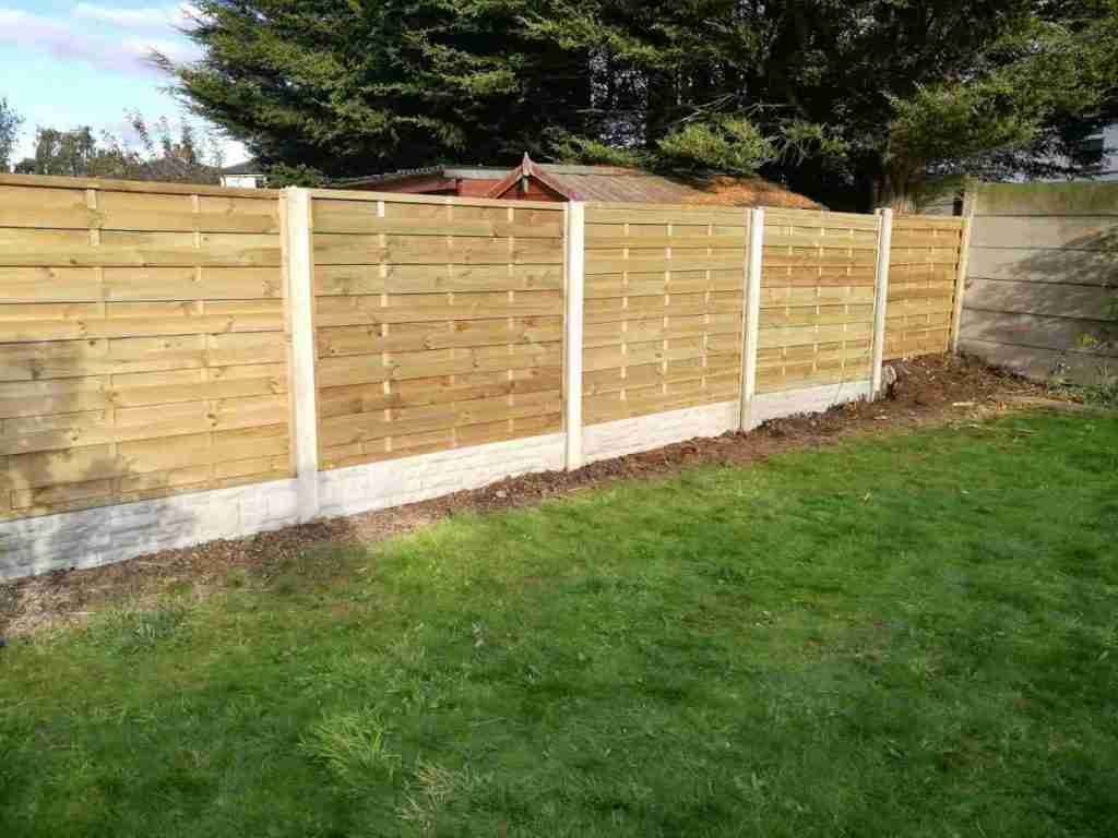 Cedar wood fencing installed in Penwortham Preston