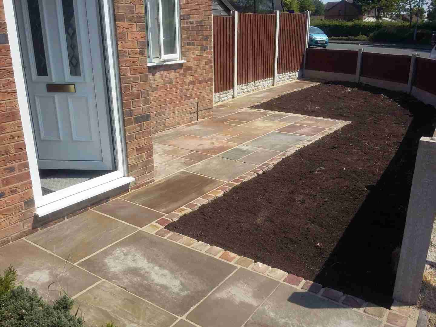 Indian stone paving, Landscaping job