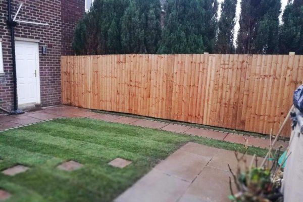 Two paved shed bases, Chorley, Lancashire