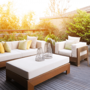 Outdoor seating area as an extension of the house