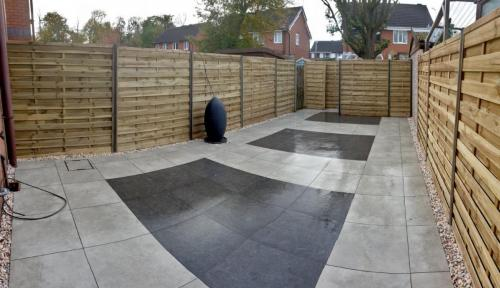 Porcelain and elite fencing garden design